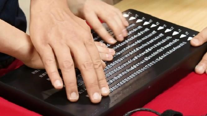 O Canute 360: leitor eletrônico em Braille - Foto: Reprodução da internet/Bristol Braille Technology