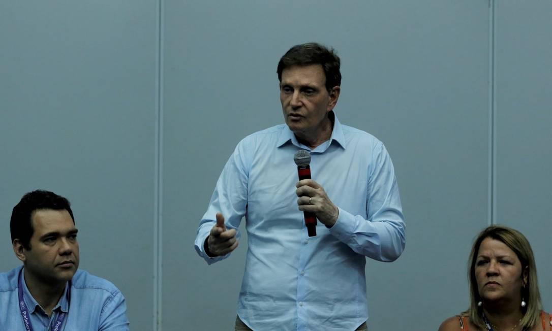 Crivella com Talma Suane e Messina Foto: Divulgação/ prefeitura do Rio