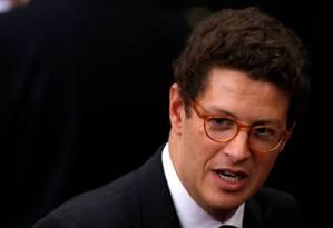O ministro do Meio Ambiente, Ricardo Salles Foto: Adriano Machado / Reuters