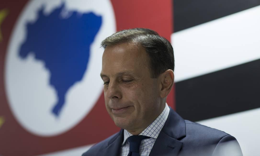 Na campanha eleitoral, o governador de São Paulo, João Doria, prometeu aumentar atendimento a mulheres vítimas de crime Foto: Edilson Dantas / Agência O Globo (05/11/2018)