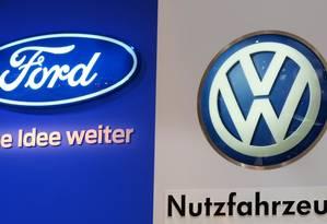 Ford e Volkswagen já firmaram uma aliança, em nível regional, na década de 1980 Foto: Patrik Stollarz / AFP