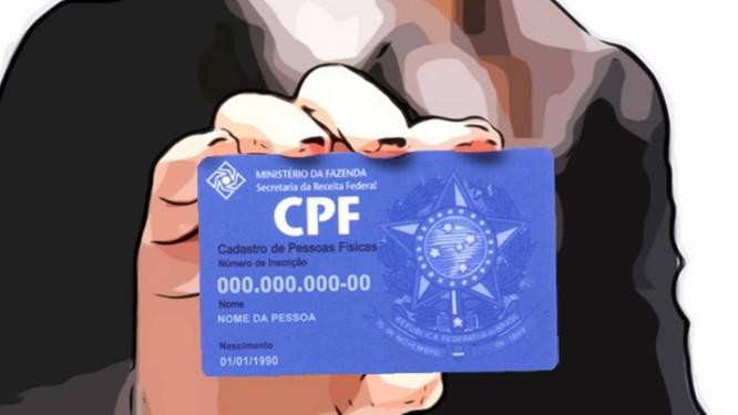 Com o número do CPF, será possível ser reconhecido pelosbancos de dados do governo Foto: Montagem/divulgação