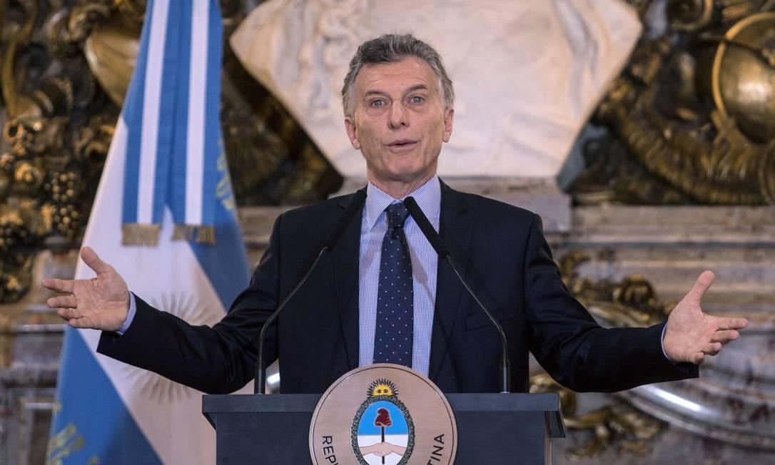Presidente da Argentina, Mauricio Macri concede entrevista coletiva após ser anfitrião da Cúpula do G20 Foto: DANIEL VIDES/Noticias Argentinas / AFP