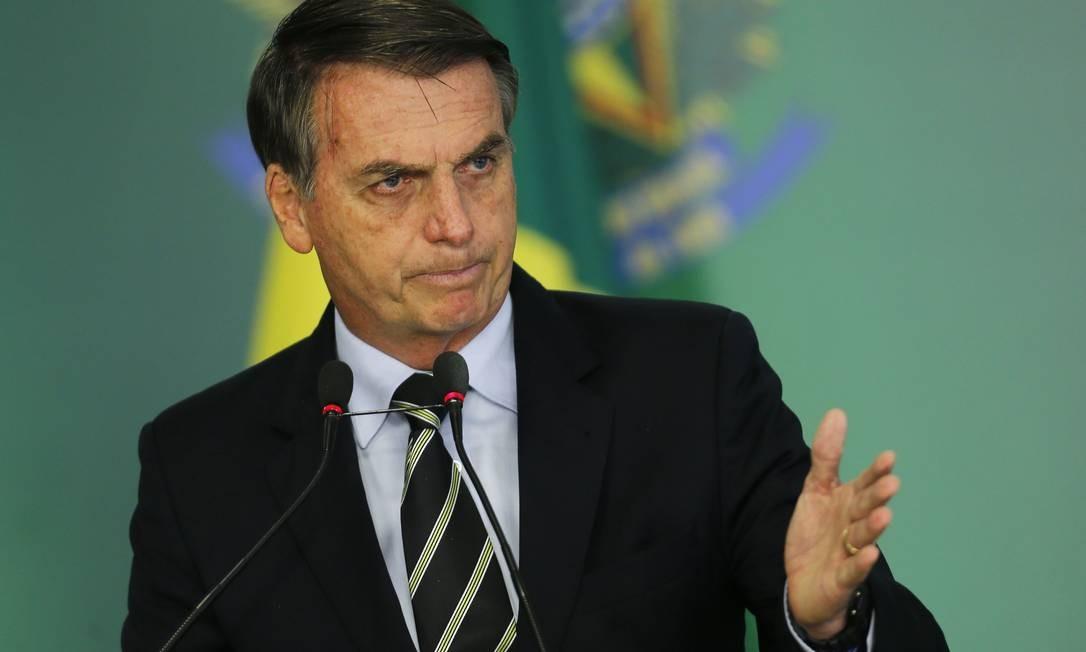 O presidente Jair Bolsonaro assinou decreto de flexibilização da posse de armas Foto: Jorge William / Agência O Globo