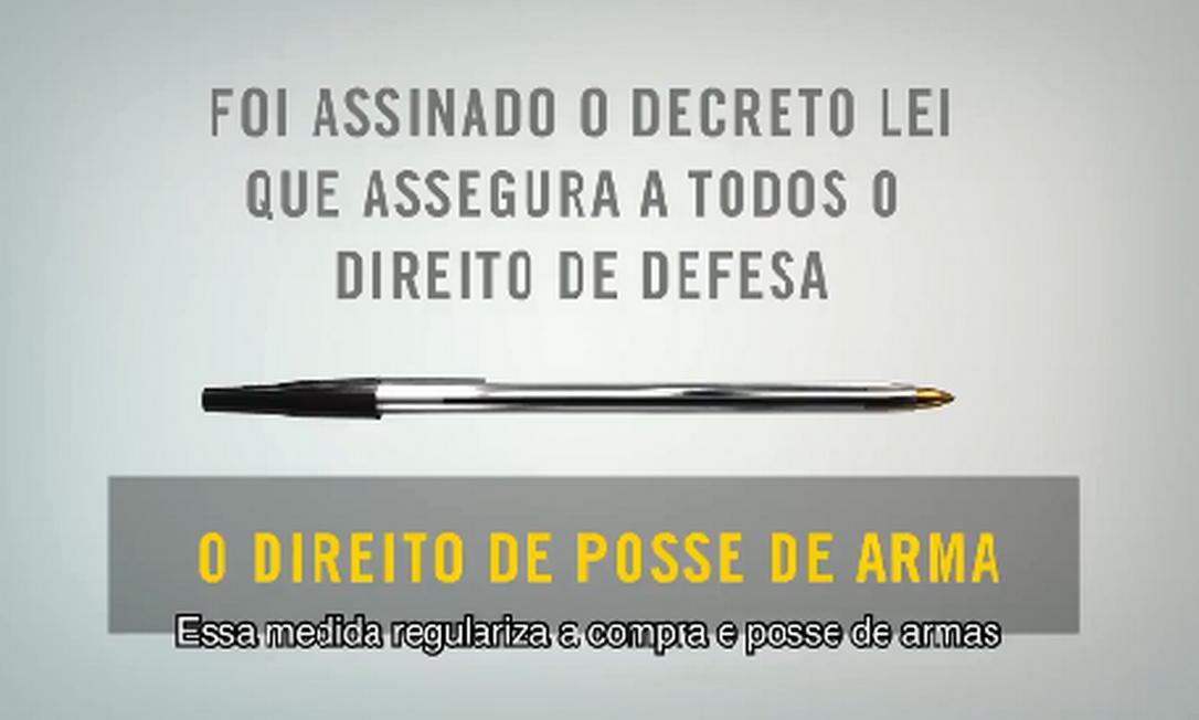Campanha sobre o decreto é divulgada na internet Foto: Reprodução