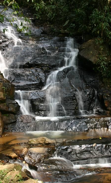 Cachoeira do Reino das Águas Claras, no município de Monteiro Lobato, em São Paulo Foto: Prefeitura de Monteiro Lobato / Divulgação