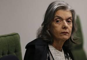 Cármen Lúcia deve desafogar a pauta de processos no colegiado responsável pela Lava Jato Foto: Jorge William/Agência O Globo/04-12-2018