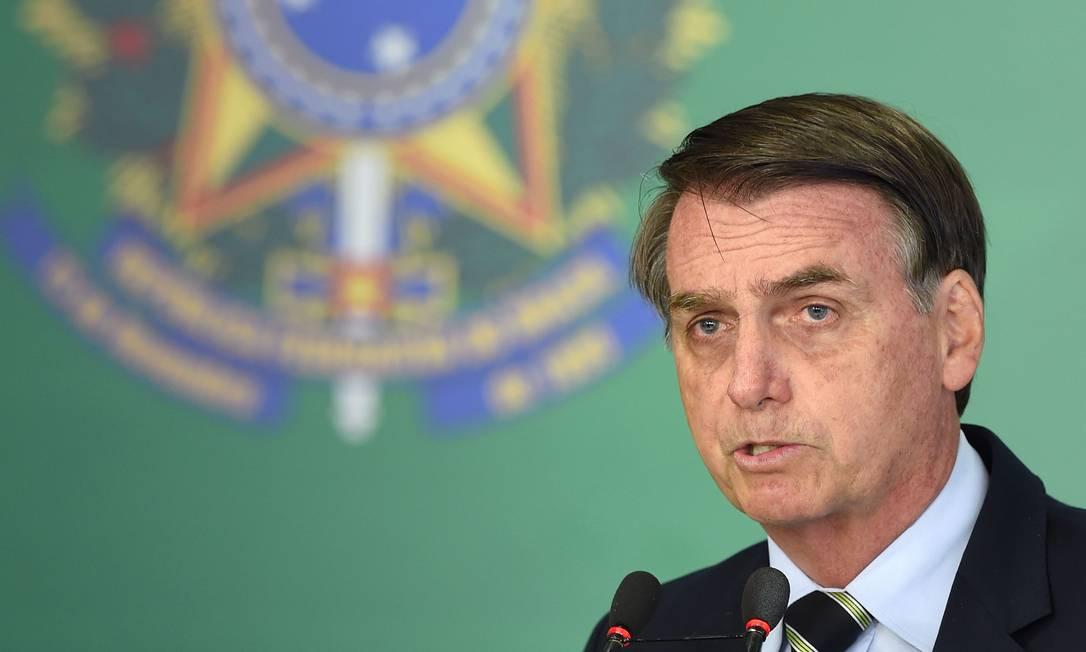 O presidente Jair Bolsonaro Foto: EVARISTO SA / AFP