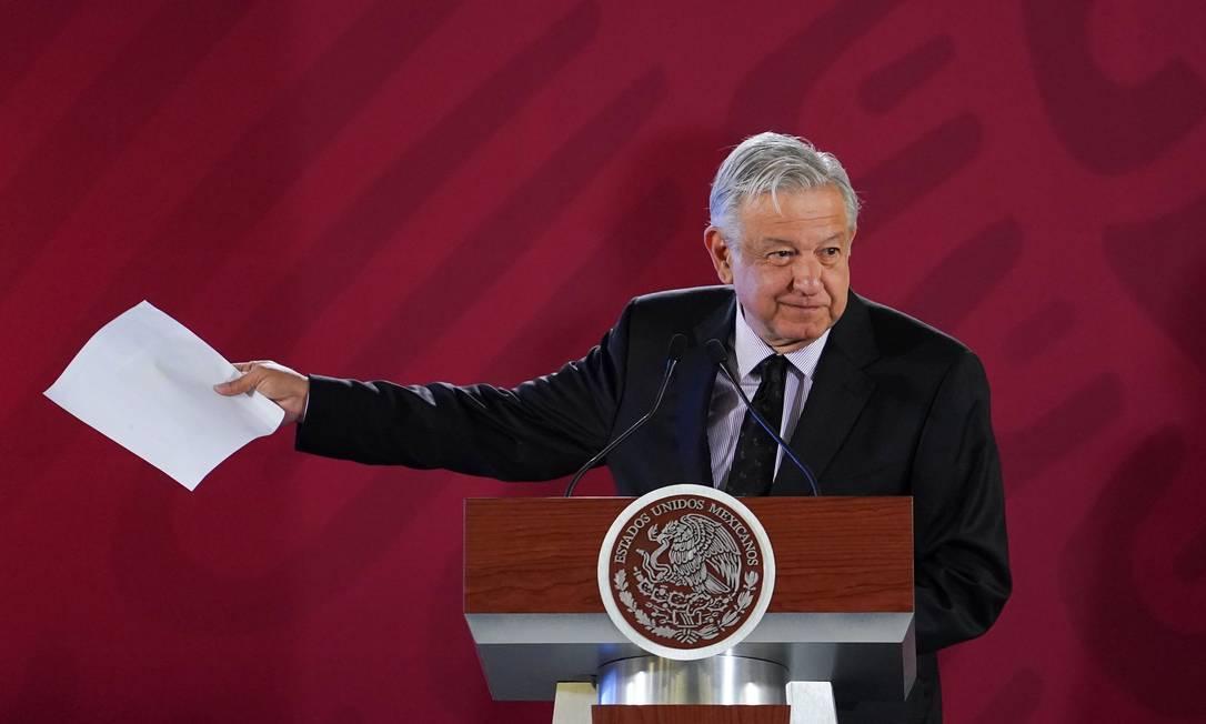 Presidente do México, López Obrador concede entrevista coletiva no Palácio Nacional Foto: Daniel Aguilar/Assessoria de López Obrador / REUTERS
