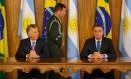 Os presidentes da Argentina, Mauricio Macri, e do Brasil, Jair Bolsonaro Foto: Daniel Marenco / Agência O Globo