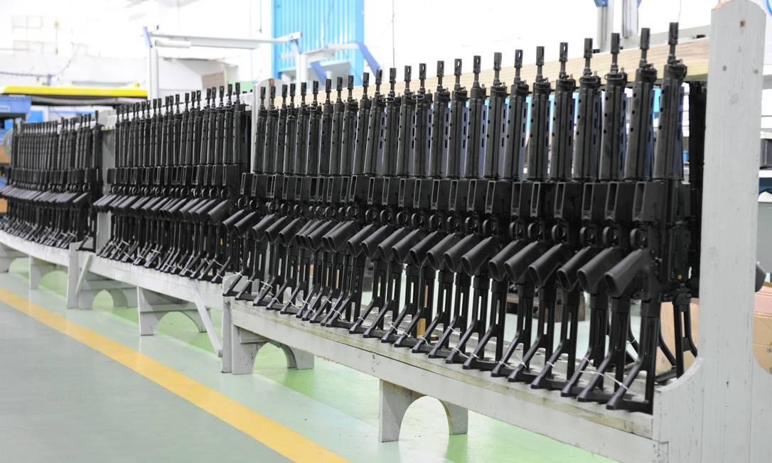 Fábrica da Imbel em Itajubá (MG), que produz armas leves, como fuzis e pistolas Foto: Divulgação