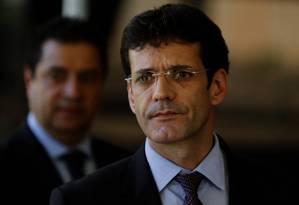 Marcelo Álvaro Antônio, após ser anunciado como ministro do Turismo, no CCBB Foto: Jorge William/Agência O Globo/28-11-2018