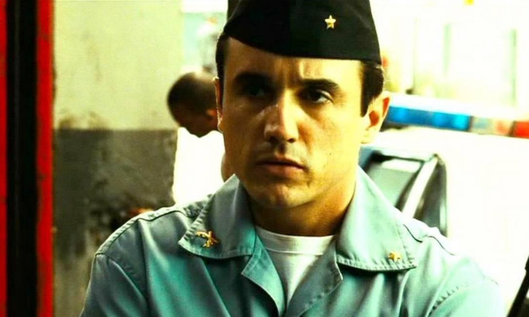 Em 2007, o ator participou do filme 'Tropa de elite', no qual interpretou o aspirante Neto Gouveia Foto: Reprodução / Divulgação