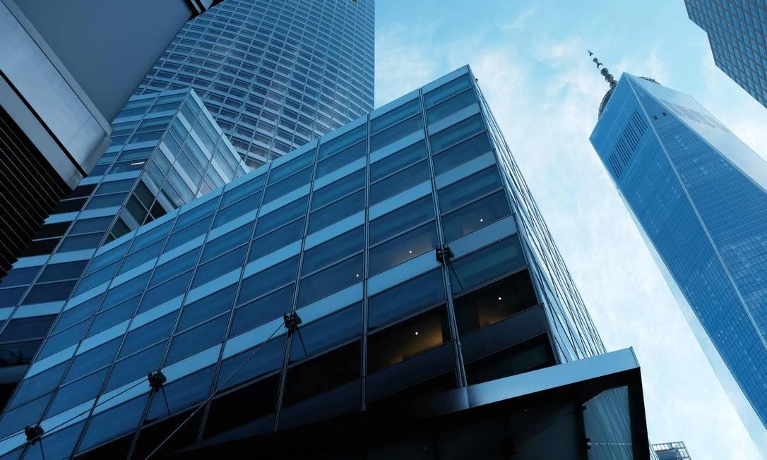 Vista da sede do Goldman Sachs em Manhattan: faturamento recorde de bancos de Wall Street Foto: SPENCER PLATT / AFP