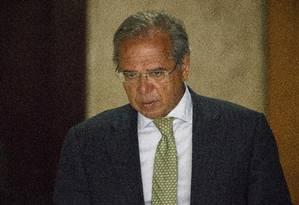 O ministro da Economia, Paulo Guedes, no Palácio do Planalto Foto: Daniel Marenco/Agência O Globo/15-01-2018