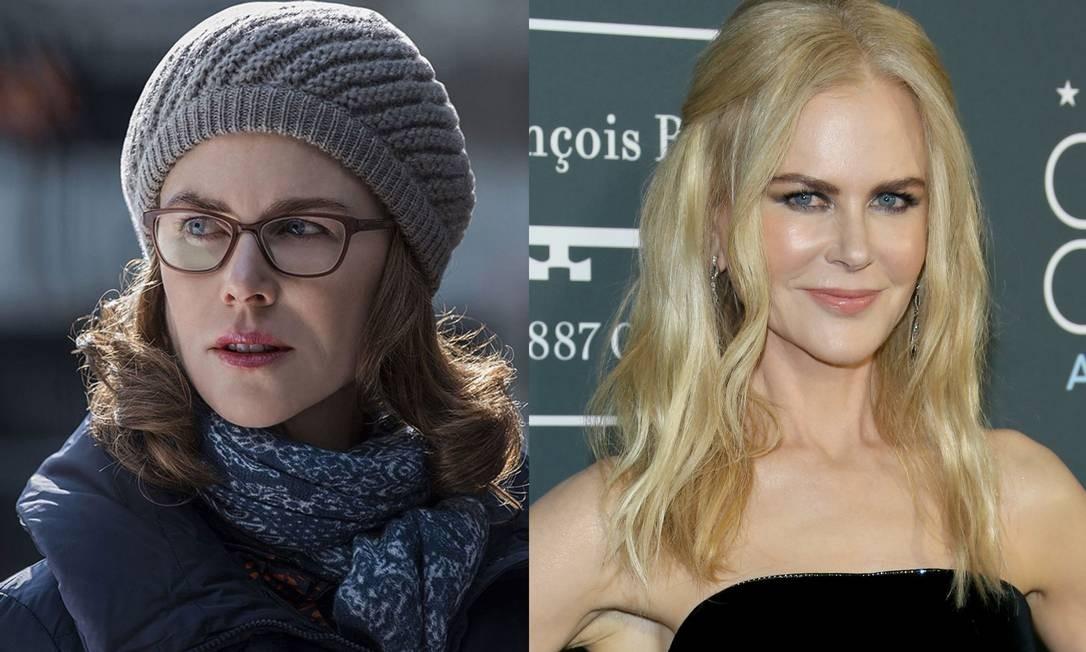 No filme em cartaz 'Amigos para sempre', Nicole Kidman também aparece bastante diferente do que costumamos ver Foto: Divulgação/JEAN-BAPTISTE LACROIX