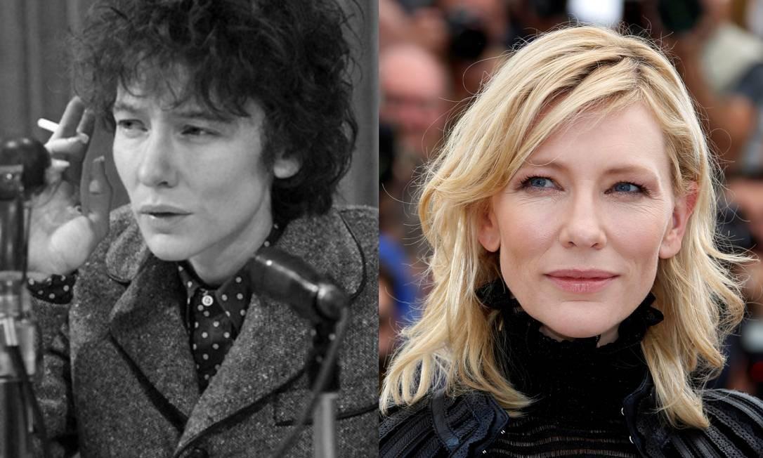Em 2007, Cate Blanchett conseguiu ficar parecida com Bob Dylan para o filme 'Não estou lá' Foto: Divulgação/Eric Gaillard