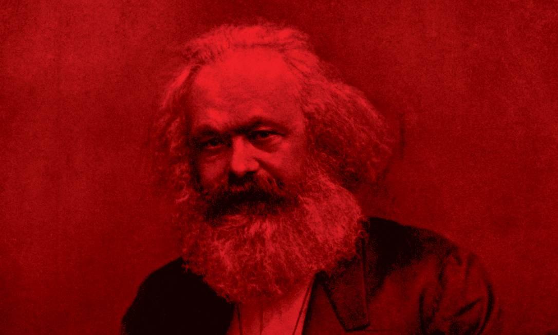Karl Marx, autor da concepção materialista da história, segundo a qual as sociedades evoluem de acordo com o modo como produzem os bens para satisfazer suas necessidades. Foto: Hulton Deutsch / GETTY IMAGES