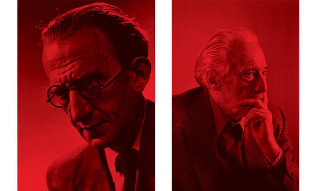 György Lukács (1885-1971) (à esq.), um dos mais influentes pensadores marxistas durante o período stalinista, o filósofo húngaro foi pioneiro na análise sociológica da literatura de ficção. Henri Lefebvre (1901-1991), o filósofo francês foi um estudioso da influência do capitalismo sobre o espaço urbano Foto: HULTON-DEUTSCH COLLECTION e FRANCOIS LOCHON / CORBIS/GETTY IMAGES e GAMMA-RAPHO/GETTY IMAGES