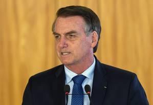 O presidente Jair Bolsonaro durante uma entrevista Foto: EVARISTO SA / AFP