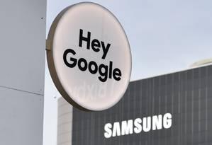 Placa do Google na CES em Las Vegas: oito anos de investigação antitruste na Europa Foto: David Becker / AFP