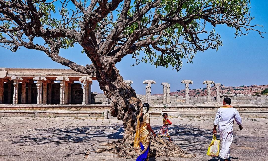 Em segundo lugar ficou Hampi, cidade no sudoeste da Índia, famosa por sua herança arquitetônica e construções como o Templo Vittala, e que, graças a novos voos, está mais acessível aos turistas Foto: Poras Chaudhary / The New York Times