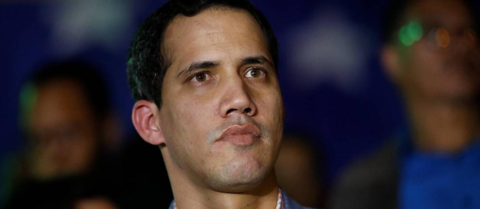 Juan Guaidó, presidente da Assembleia Nacional da Venezuela, em Caracas Foto: CARLOS GARCIA RAWLINS / REUTERS