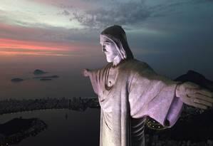 O monumento do Cristo Redentor, um dos mais belos cartões-postais do Rio Foto: Custódio Coimbra