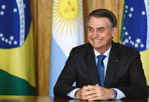 Presidente brasileiro, Jair Bolsonaro, no Palácio do Planalto Foto: EVARISTO SA / AFP
