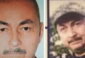 À esquerda, autor de ataque em Bogotá. À direita, homem investigado em informe da inteligência colombiana Foto: Arquivo particular/El Tiempo