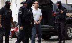 Hoje, ele cumpre pena de 198 anos e 6 meses de prisão na penitenciária de Bangu 8 e responde a mais de 20 outros processos 19/01/2018 Foto: Rodolfo Buhrer / Agência O Globo