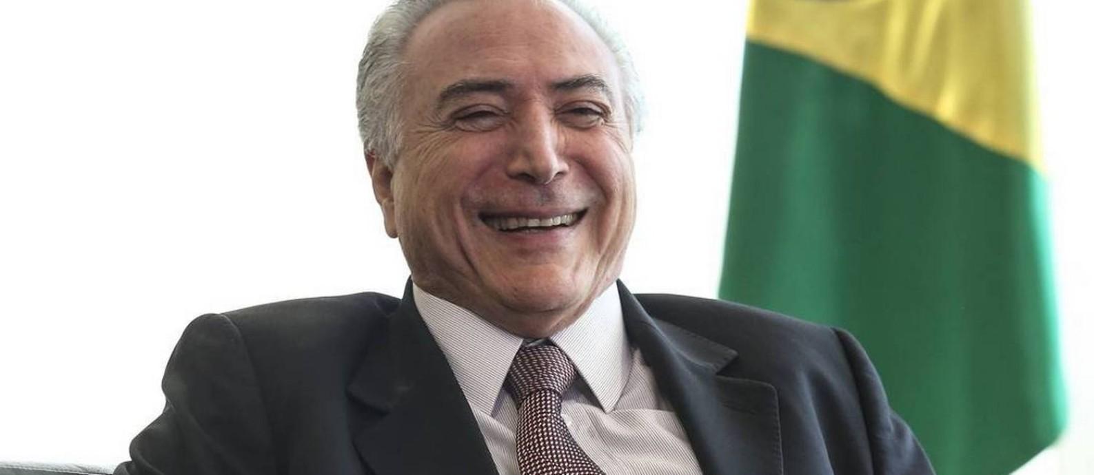 Temer: leitura sobre o enfraquecimento das instituições Foto: Andre Coelho / Agência O Globo