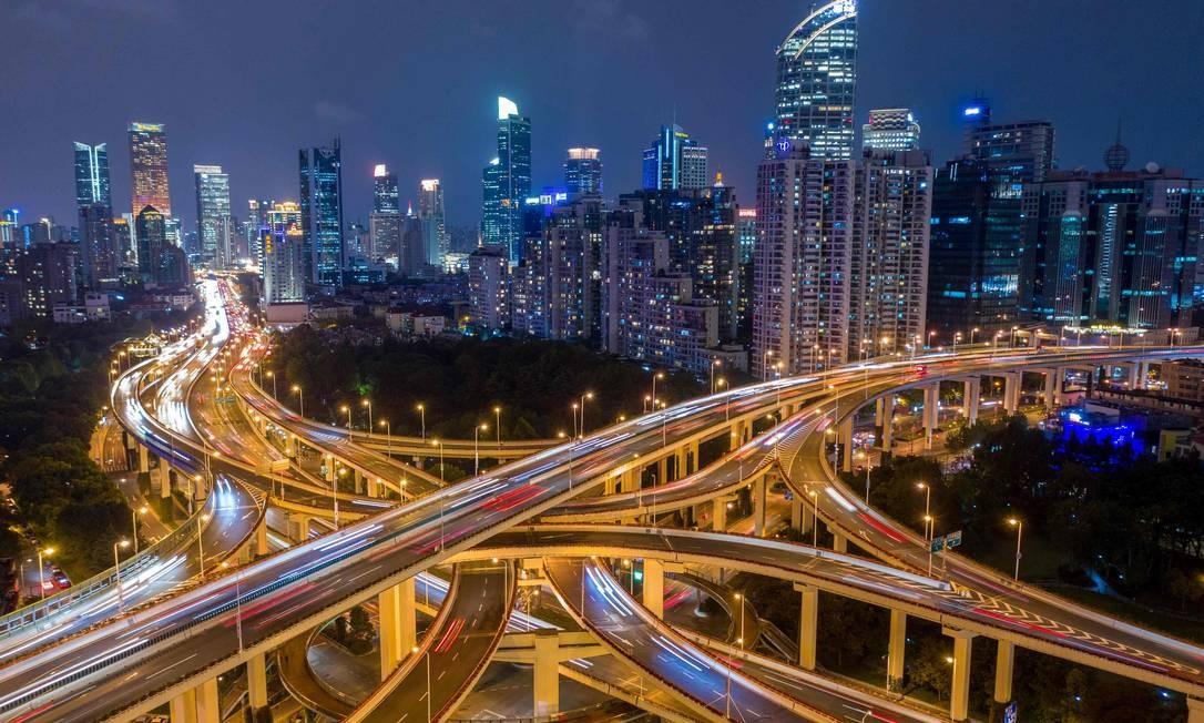 O Centro de Xangai: chineses ofereceram aumento nas importações dos EUA Foto: JOHANNES EISELE / AFP