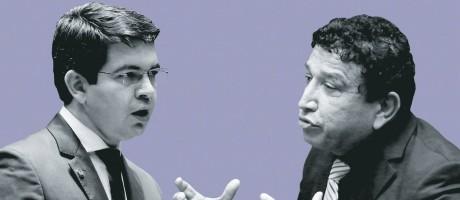 Os senadores Randolfe Rodrigues e Magno Malta Foto: MONTAGEM SOBRE FOTOS: AÍLTON DE FREITAS / AGÊNCIA O GLOBO | JORGE WILLIAM/AGÊNCIA O GLOBO