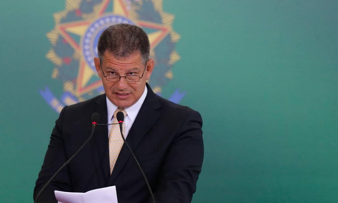 O ministro da Secretaria-Geral da Presidência, Gustavo Bebianno, durante cerimônia de transmissão de cargo Foto: Pablo Jacob/Agência O Globo/02-01-2019