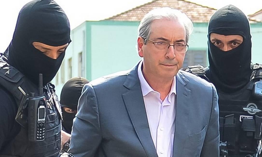 Eduardo Cunha está preso no Complexo Médico Penal, em Curitiba Foto: Jason Silva / AGIF