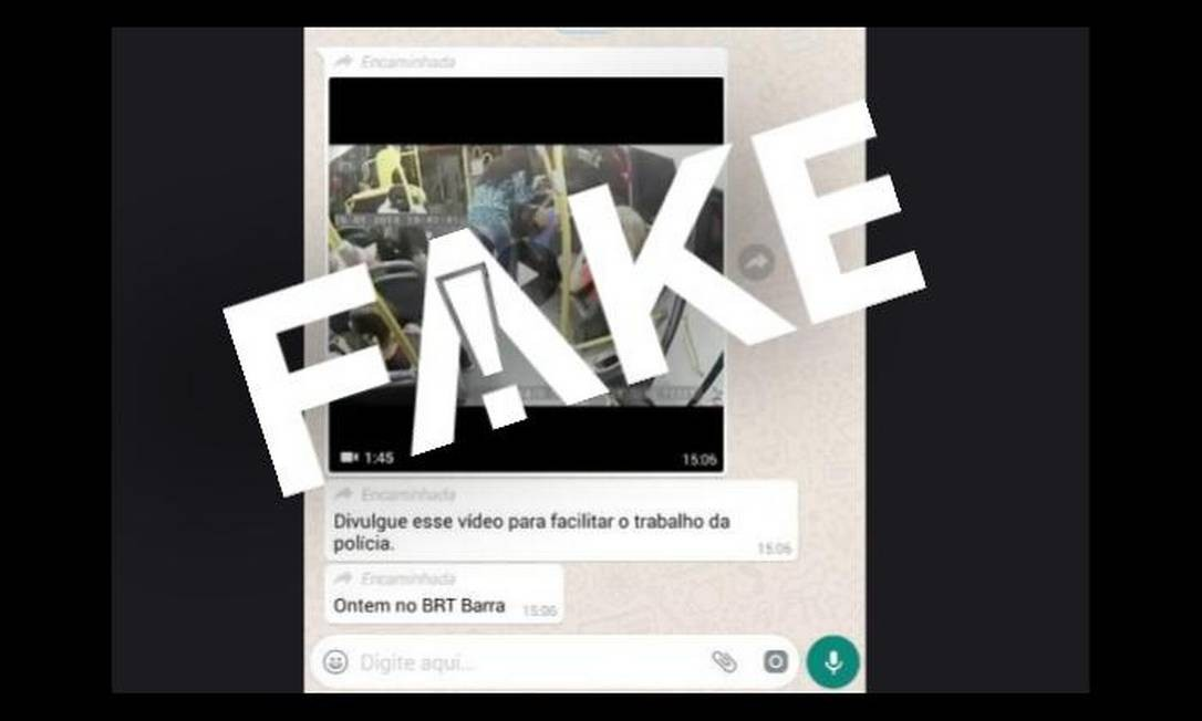 Vídeo encaminhado nas redes não foi gravado no BRT do Rio Foto: Reprodução
