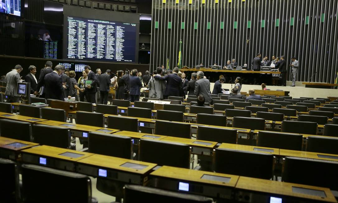 Plenário da Câmara dos Deputados Foto: Jorge William/Agência O Globo/31-10-2018