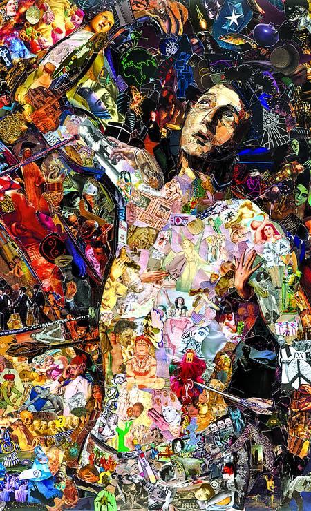 AOS PEDAÇOS: Colagem de Vik Muniz exposta em 2018, na Capela Santa Ignez, da Gávea Foto: Divulgação