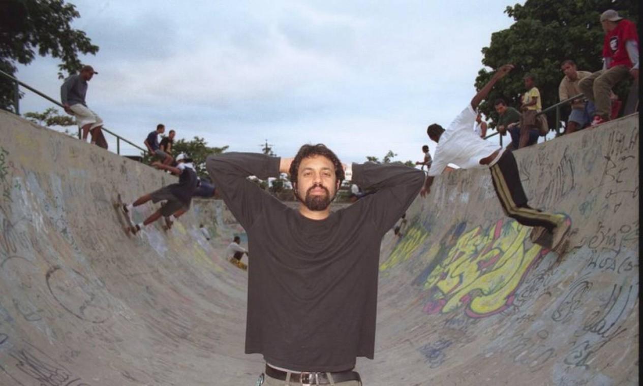 No ano 2000, meses antes do acidente, em Campo Grande, onde passou a infância- Foto: Mônica Imbuzeiro