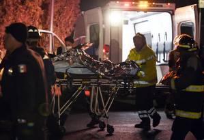 Muitas pessoas ficaram feridas, com queimaduras graves Foto: Alfredo Estrella / AFP