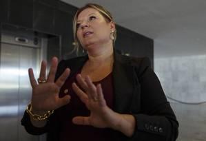 A deputada Joice Hasselmann (PSL-PR) diz que confia na palavra de Flavio Bolsonaro Foto: Daniel Marenco- 09/01/2019 / Agência O Globo