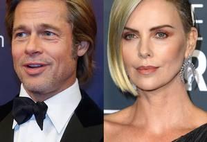 Brad Pitt e Charlize Theron Foto: Getty