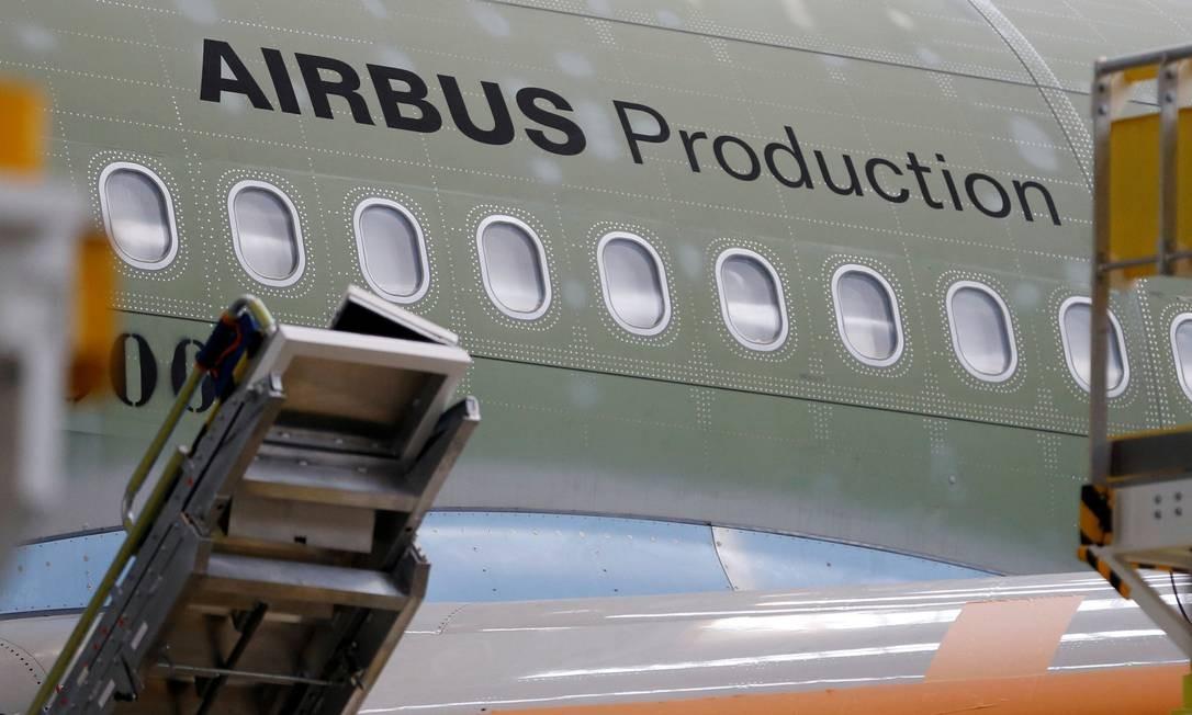 Montagem de um Airbus A330 na França: planos futuros para aeronaves sem piloto Foto: Regis Duvignau / REUTERS
