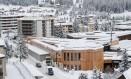 Vista de Davos, onde ocorre todos os anos o Fórum Econômico Mundial: trânsito fica mais complicado durante o evento Foto: ARND WIEGMANN / REUTERS