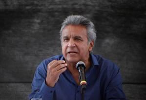 Presidente do Equador, Lenín Moreno concede entrevista coletiva em Esmeraldas Foto: Daniel Tapia 15-08-2017 / REUTERS