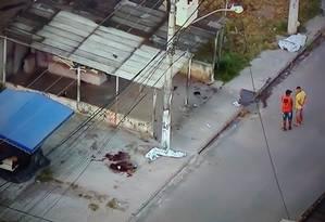 Marambaia, em Itaboraí, onde três pessoas foram mortas na madrugada de 20 de janeiro Foto: Reprodução/ TV Globo