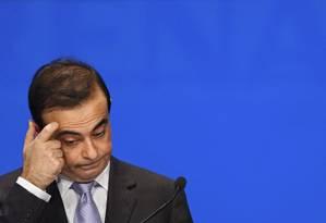 O ex-presidente da Nissan, Carlos Ghosn Foto: ERIC FEFERBERG / AFP/Arquivo