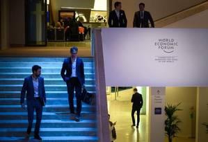 Pesquisa da PwC, lançada horas antes da abertura do Fórum Econômico Mundial, serve como termômetro sobre o estado de espírito no meio corporativo para as discussões em Davos Foto: AFP