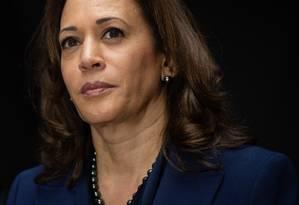 Kamala Harris, senadora democrata da Califórnia, em 28 de setembro de 2018 Foto: SAUL LOEB / AFP